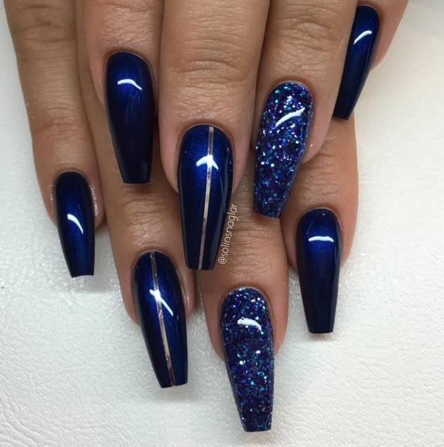 Lilly Nails Gel Polish Midnight Blue1