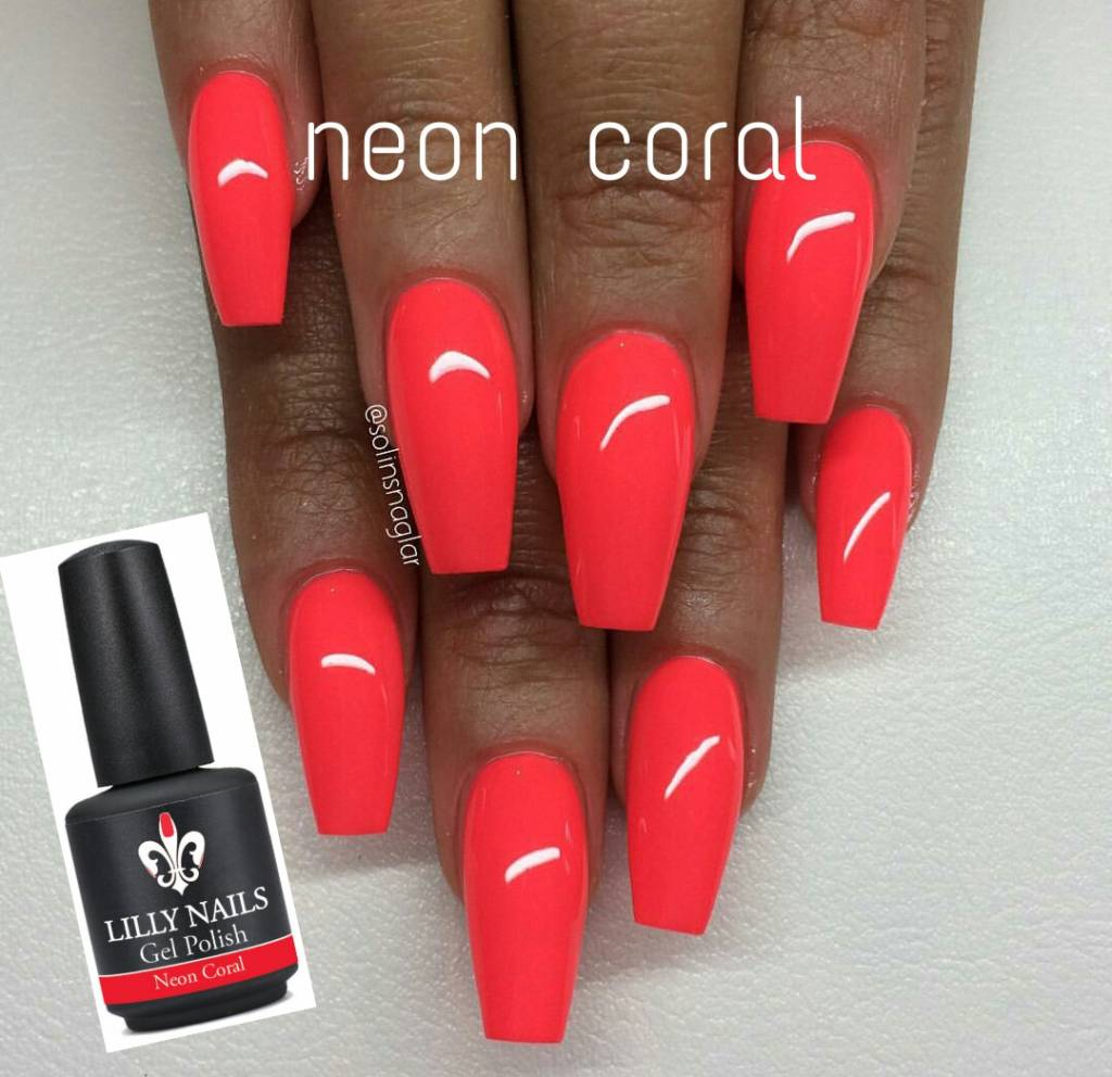 Lilly Nails Gel Polish Neon Corall1