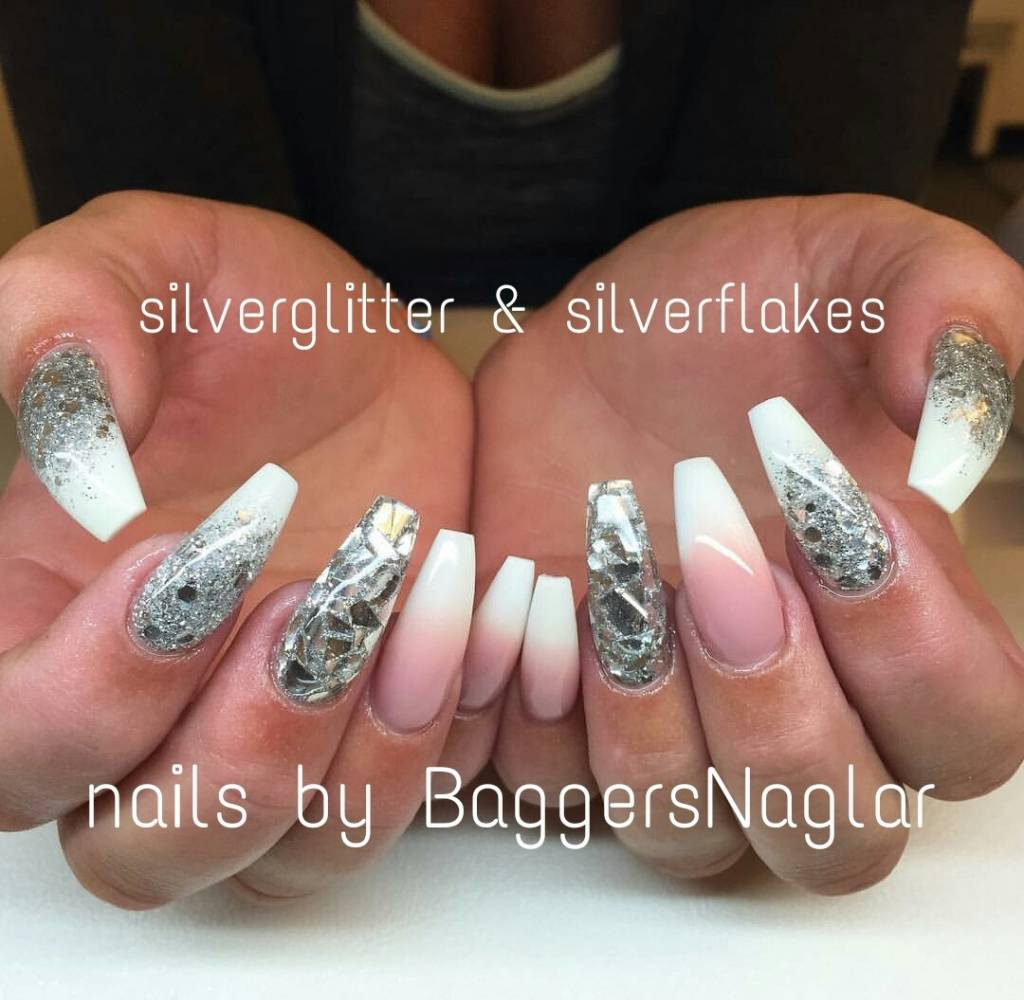Lilly Nails Gel Polish Silver Glitter