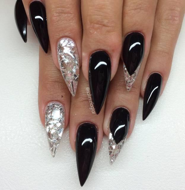Lilly Nails Nailart Inlay Folie Flakes Silver
