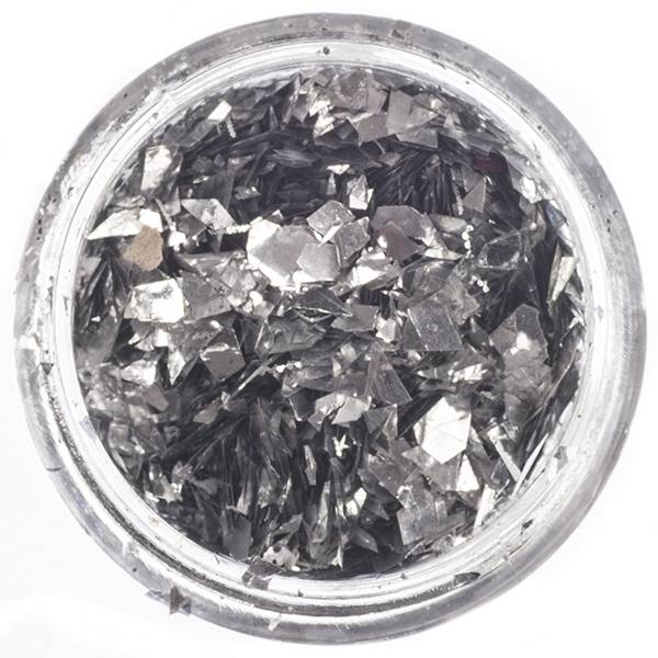 Nailart Inlay Folie Flakes Silver