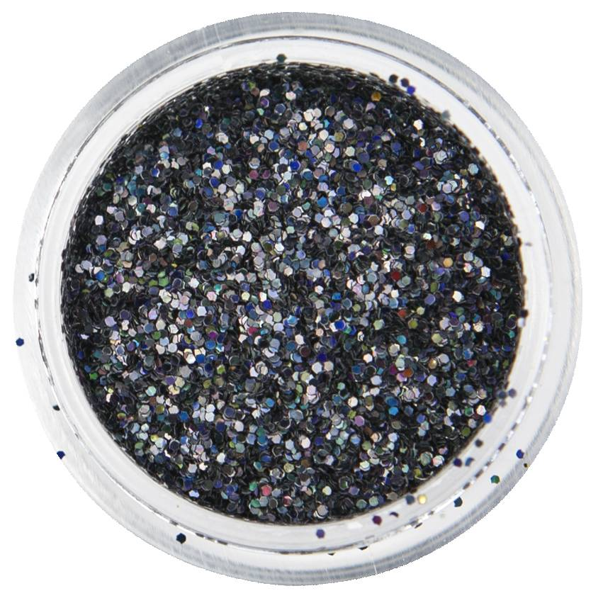 Nailart Glitter Disco Black