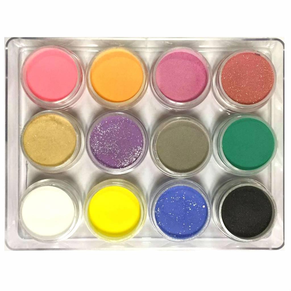 Acryl Poeder 12-pcs Color Mix