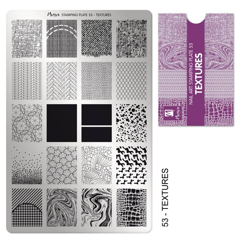 Nailart Moyra Stamping Plate Textures