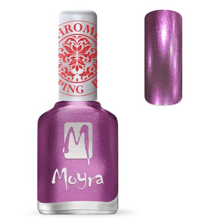 Nailart Moyra Stempel Polish Chrome Purple 12ml