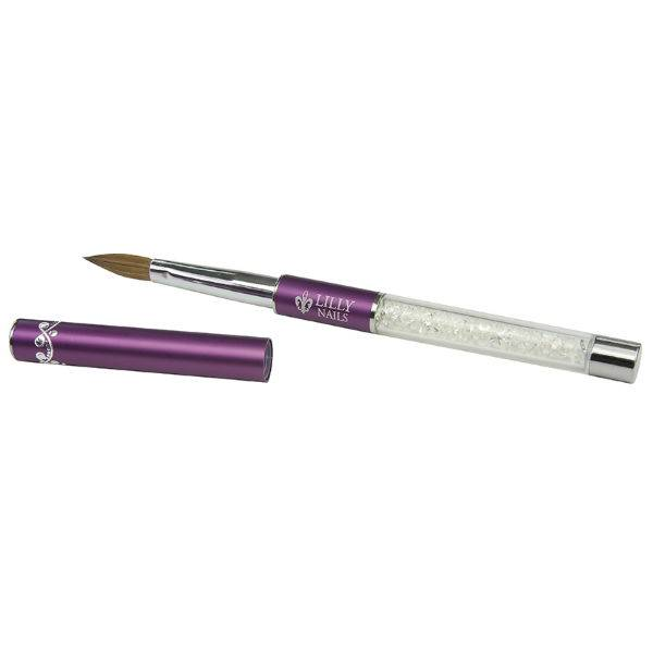 lilly-nails-penseel-acryl-bling-nr-10-purple