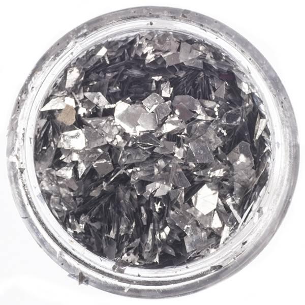Nailart Inlay Folie Flakes Silver