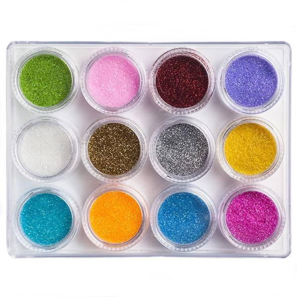 Nailart Pakket Glitter Nr.1 12 Stuks