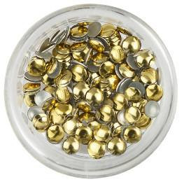Nailart Large Gold Round Rivets