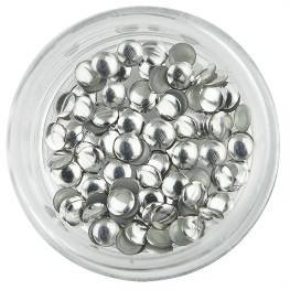 Nailart Large Silver Round Rivets