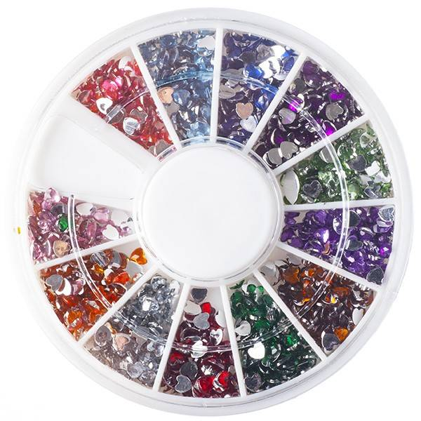 Nailart Strass Mix Of Heart Rhinestones