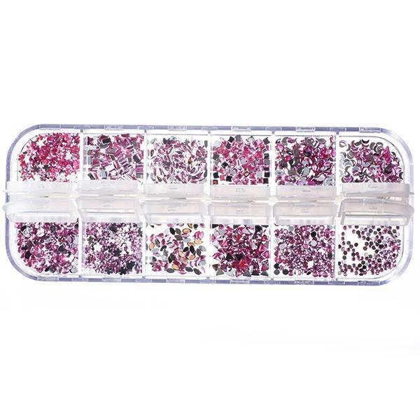 Nailart Strass Mix Of Pink Crystals