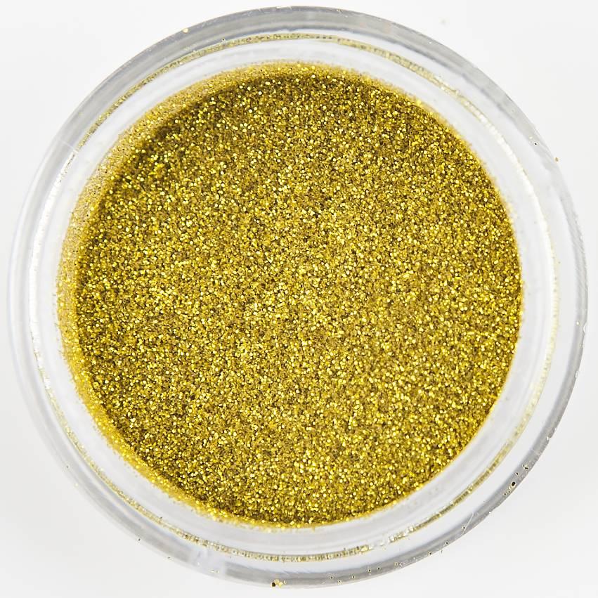 Nailart Glitter Mustard Gold
