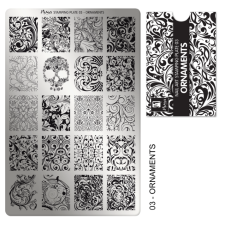 Moyra Stamping Plate Ornamenten