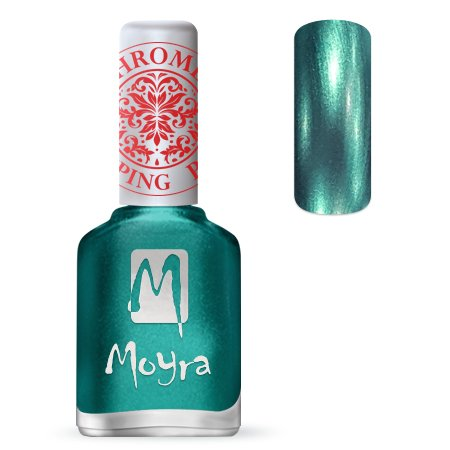 Nailart Moyra Stempel Polish Chrome Green 12ml