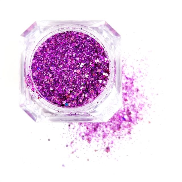 GLITTER MIX Solin Purple