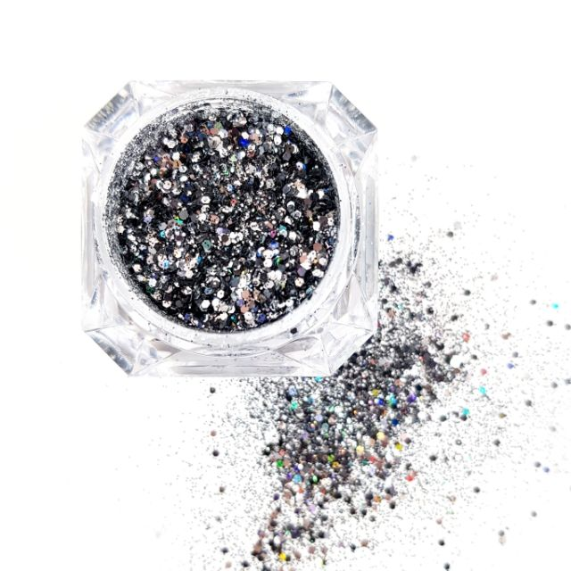 Glittermix Solin Black
